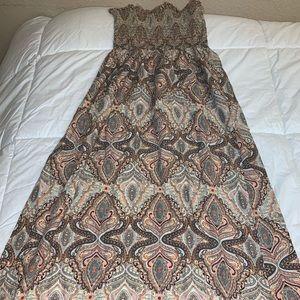 Charlotte Russe Strapless BOHO Maxi Sun Dress